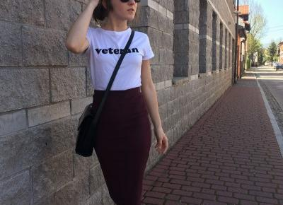 Tube skirt & casual t-shirt #outfit        |         mów mi Kasia