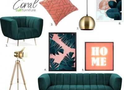 Trendy 2019 Pantone Living Colar oraz butelkowa zieleń