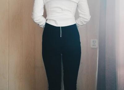 K E L I E E Z Y: OOTD...WHITE SHIRT AND BLACK JEANS | FASHION