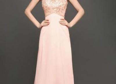 Chicloth Pearl Pink Backless Prom Dress