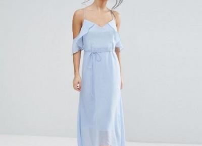 Chicloth Spaghetti Strap Ice Blue Dress