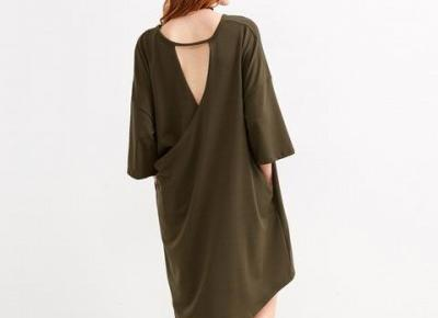 Chicloth Loose style Green Shift Dress