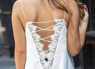 Chicloth sexy lace edge halter vest