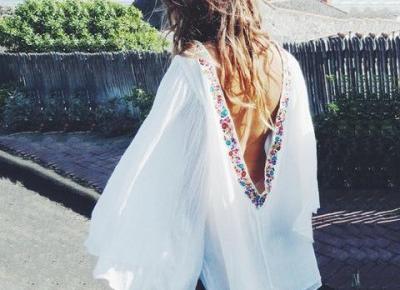Chicloth Backless White Shift Dress