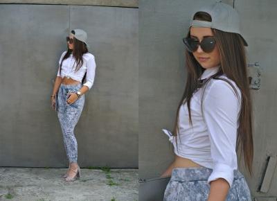 88ღ. White Shirt In Cool Street Style Look