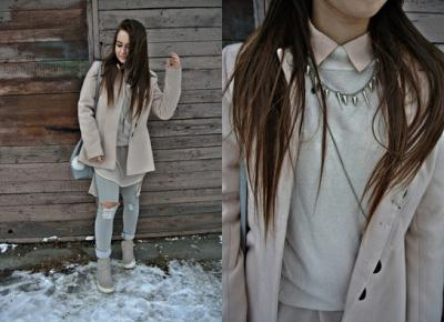 Kingstyle ღ: 53ღ. Shirt Of Peach Color In Winter Stylisation