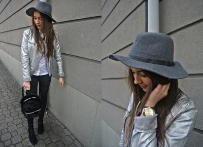 Kingstyle ღ: 55ღ.Metallic Silver Leather Jacket In Casual Outfit