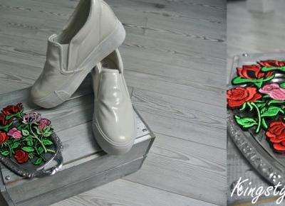 Kingstyle ღ: 69ღ. Flower's Badges On White Slip On
