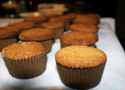 Pomaranczowe muffinki - w drodze do wielkanocy