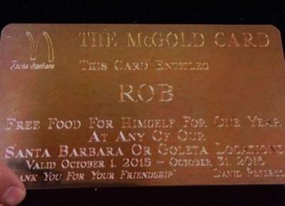 Złota karta Mcdonald's
