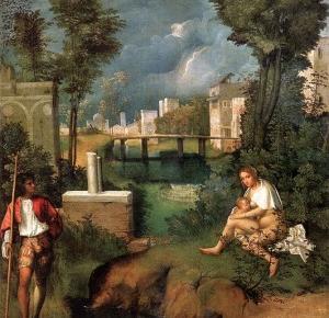 """Dlaczego mężczyzna na obrazie Giorgione """"Burza"""" nie jest nagi?"""