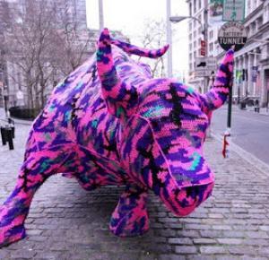 Kolażowa: urban knitting - miejskie dzierganie