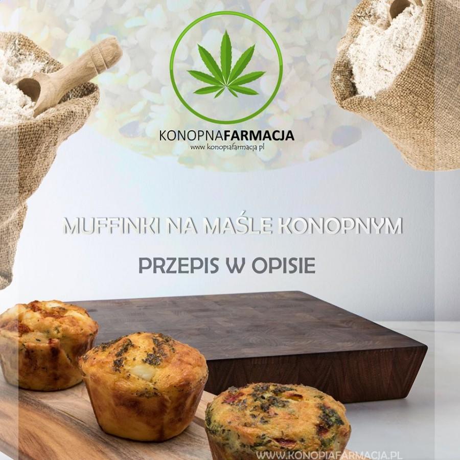 Świąteczne muffini konopne