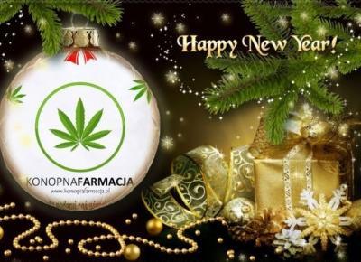 Szczęśliwego Nowego Roku życzy Konopna Farmacja Poznań