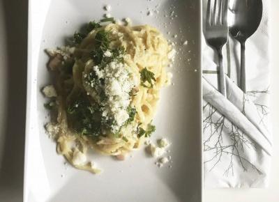 Spaghetti Carbonara- wersja bez wina » Kot w kuchni