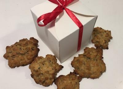 Pomysł na prezent - ciasteczka owsiane w papierowym pudełku DIY » Kot w kuchni