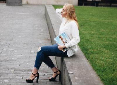 BLUE JEANS, WHITE SHIRT | krzeczaa blog