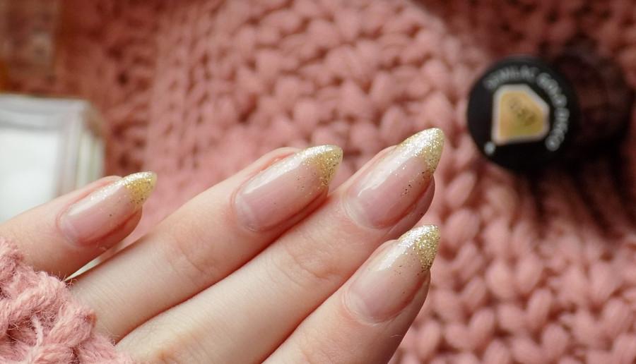 Brokatowy french | paznokcie hybrydowe