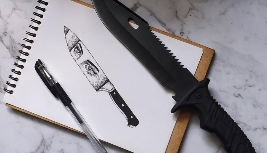 Knife artwork.