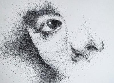 Face dotwork art
