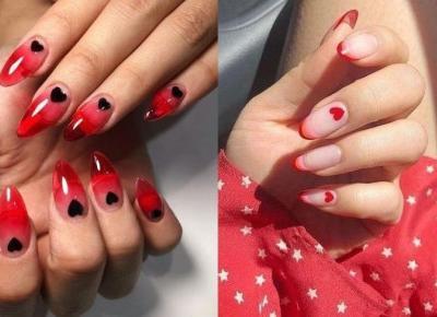 Inspiracje na walentynkowe paznokcie!