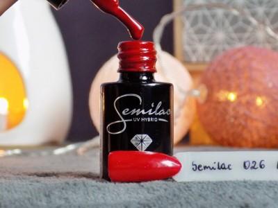 Semilac 026 My Love + paznokcie   Ksanaru