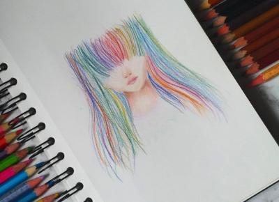 Rainbow hair bby