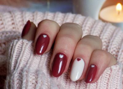 Walentynkowy akcent na paznokciach