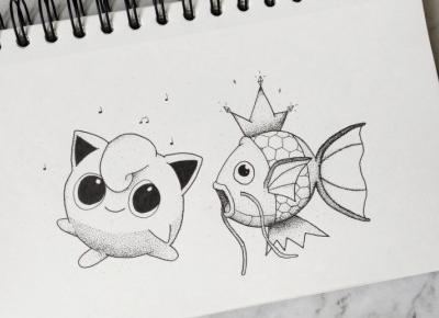 Pokemon dotwork fanart