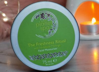 Avon, Planet Spa, The Freshness Ritual, Krem - żel do twarzy, Odświeżający, Na noc, Z ekstraktem z nasion moringa.