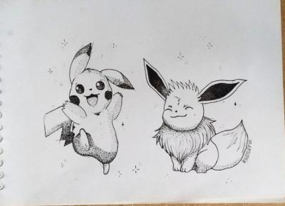 Dotwork pokemon.