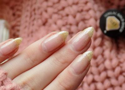 Brokatowe paznokcie hybrydowe
