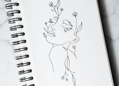 Flower girl lineart