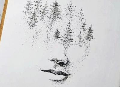 Forest face art