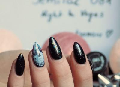 Semilac 081 Night In Vegas #skullnails - Ksanaru