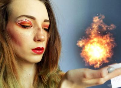 Fire makeup art.