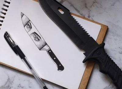 Knife artwork