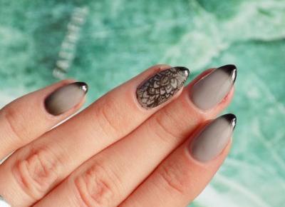 Termiczne paznokcie z ukrytym wzorkiem! Neonail Black Russian. | Ksanaru