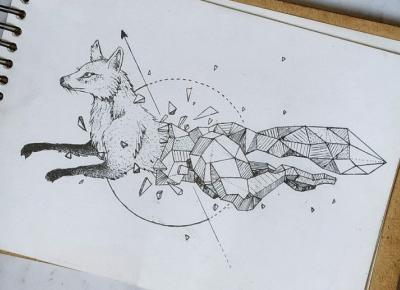 Geometric Foxy art