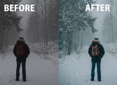 Nadaj zimowy klimat swoim zdjęciom! - Poradnik Lightroom