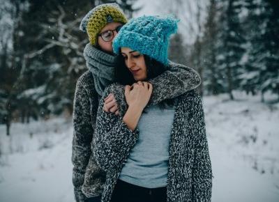 Romantyczne zdjęcie we dwoje - Zimowa Inspiracja