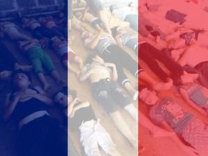 Francuskie flagi, w obliczu sumienia polskich ignorantów.