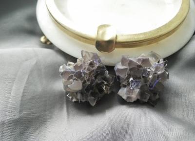 K ∀ T E: handmade crystals glass earrings/kolczyki ze szkła