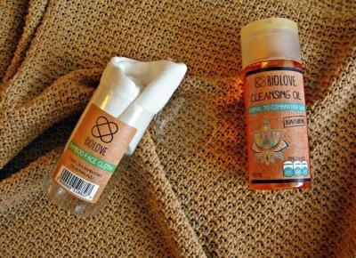 Demakijaż naturalnym olejkiem i ściereczką bambusową ~  kwietniowa