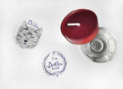 Dollka Blog: DIY: Świeczka z własnym obrazkiem