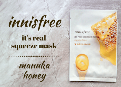 LAOLAMIKU: ZAMASKOWANA ŚRODA Z SINGASHOP.PL | INNISFREE IT'S REAL SQUEEZE MASK MANUKA HONEY