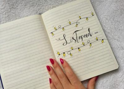 La Vita Colorata: Bullet Journal | Listopad