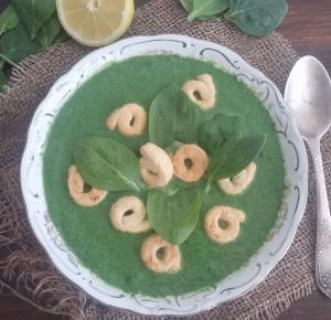 Wegańska zupa krem szpinakowa - Ewelajna
