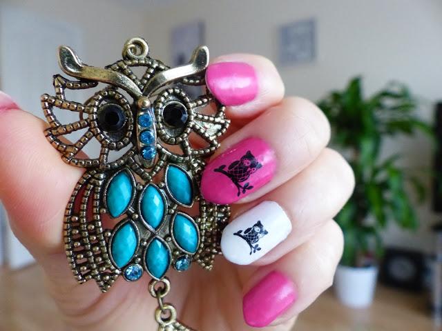 Cute Owl Nails  - lisabella-ela