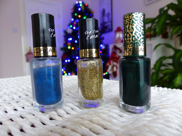 L'oreal nail polish - Saphyr Lurex, Gold Carat, Feline Sauvage